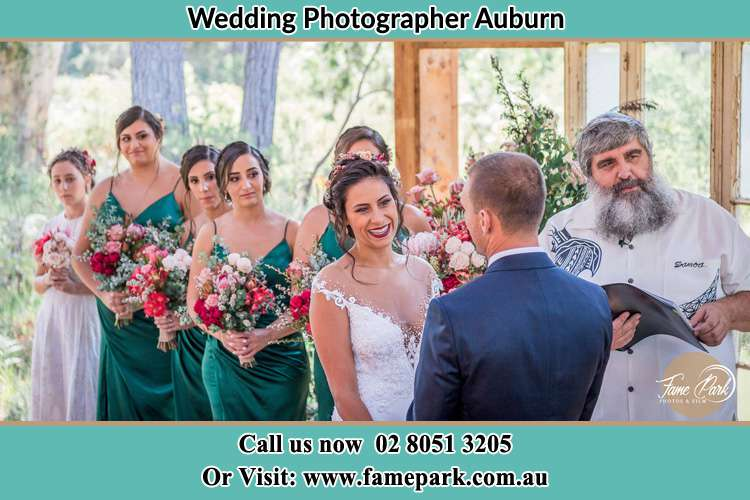 Photo of the Bride and the Groom at the matrimony Auburn NSW 2144