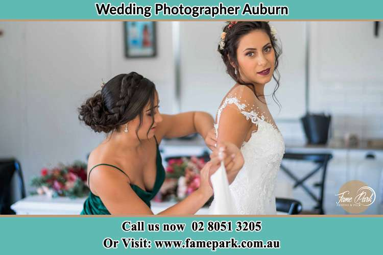 Photo of the Bride and the bridesmaid preparing Auburn NSW 2144