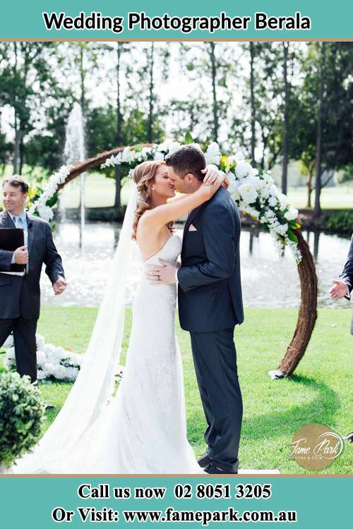 Photo of the Bride and the Groom kissing Berala NSW 2142