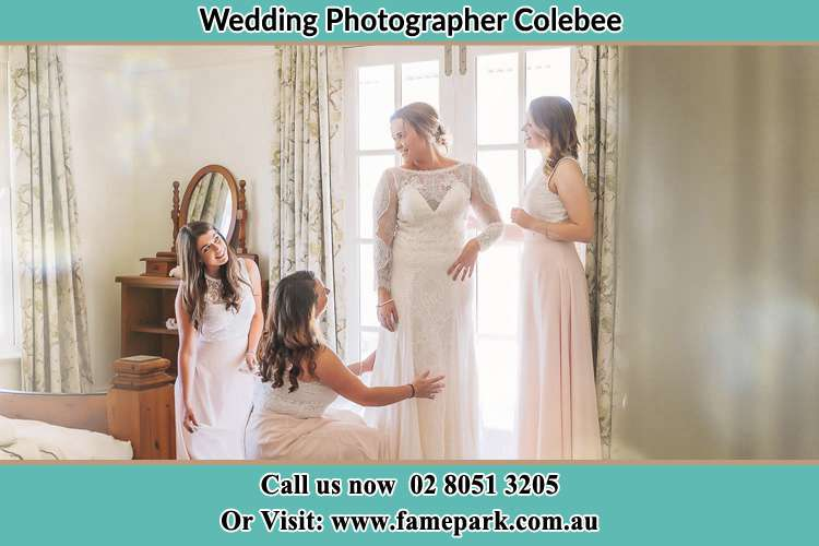 Photo of the Bride and the secondary sponsor preparing Colebee NSW 2761