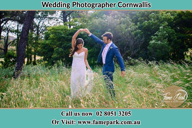 Photo of the Bride and the Groom dancing Cornwallis NSW 2756