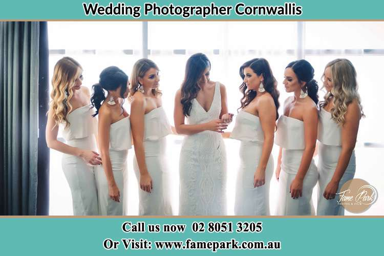 Photo of the Bride and the bridesmaids Cornwallis NSW 2756