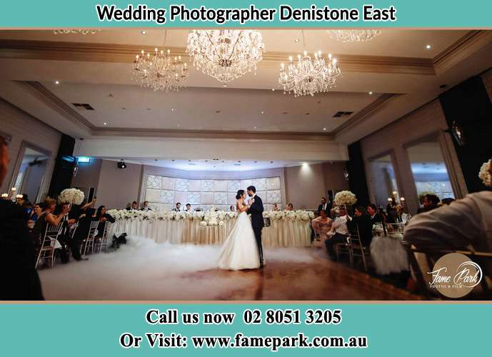 Photo of the Bride and the Groom dancing on the dance floor Denistone East NSW 2112