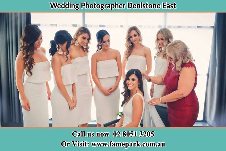 Photo of the Bride and the secondary sponsor preparing Denistone East NSW 2112