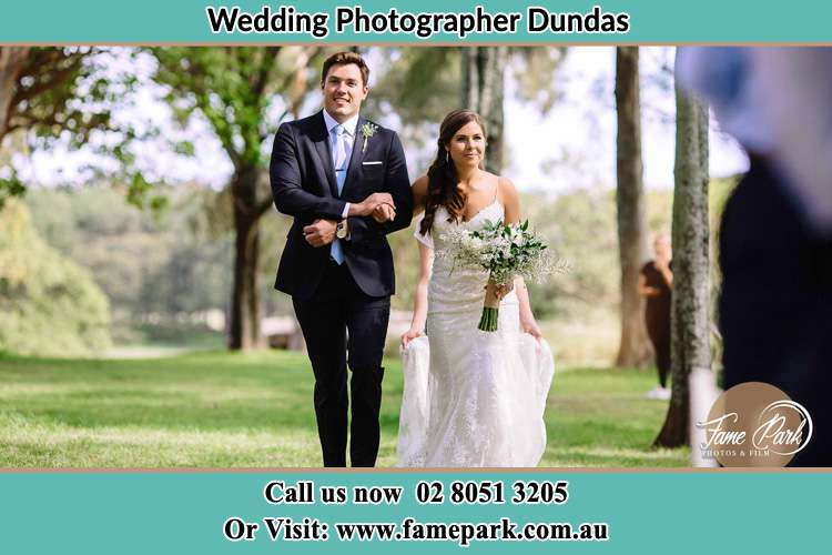 Photo of the Groom and the Bride walking Dundas NSW 2117