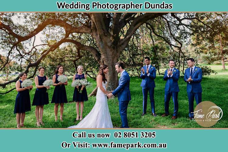 Photo of the Groom and the Bride with the entourage Dundas NSW 2117