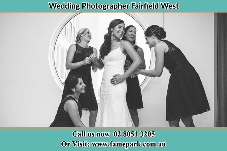 Photo of the Bride and the bridesmaids near the window Fairfield West NSW 2165