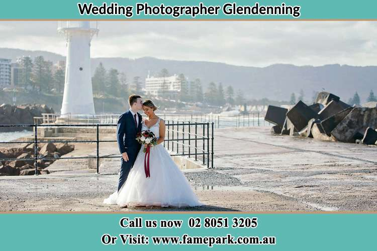 Photo of the Bride and Groom at the Watch Tower Glendenning NSW 2761