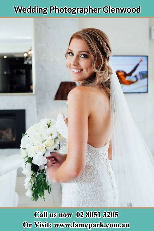 Photo of the Bride holding flower bouquet Glenwood NSW 2768