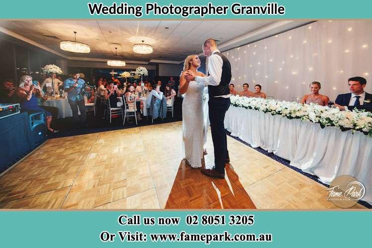 Photo of the Bride and the Groom dancing Granville NSW 2142