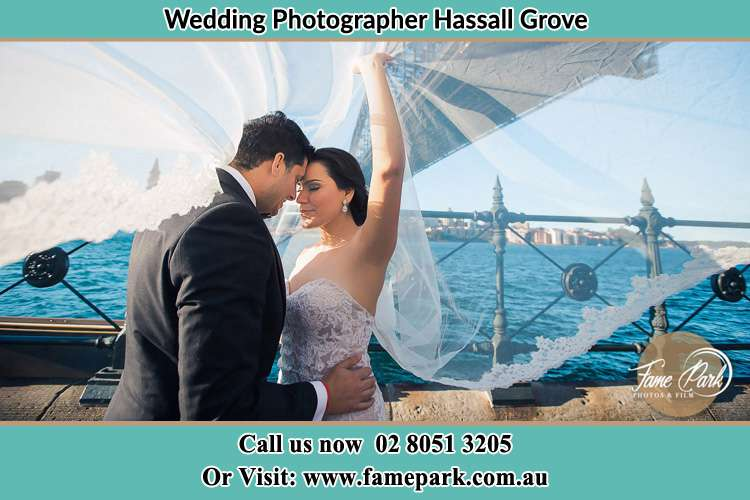 Photo of the Groom and the Bride kissing Hassall Grove NSW 2761