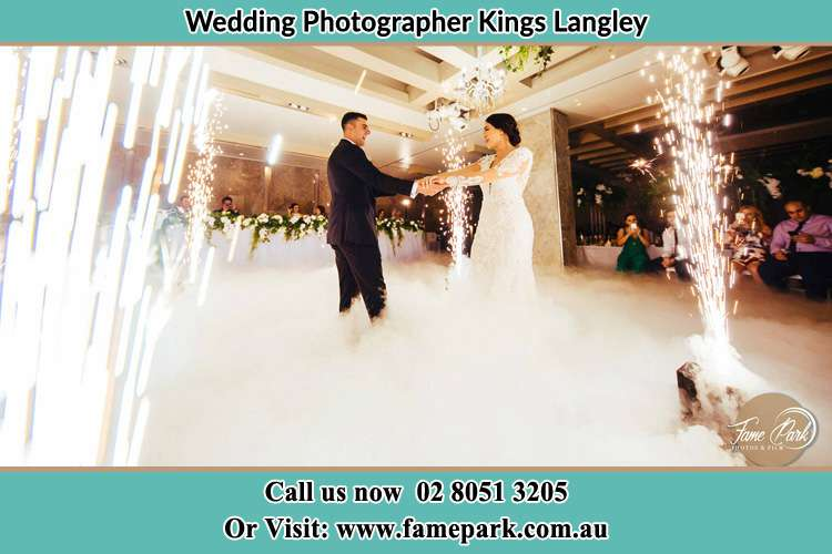 Photo of the Groom and the Bride dancing on the dance floor Kings Langley NSW 2147