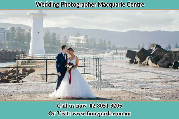 Photo of the Bride and Groom at the Watch Tower Macquarie Centre NSW 2113