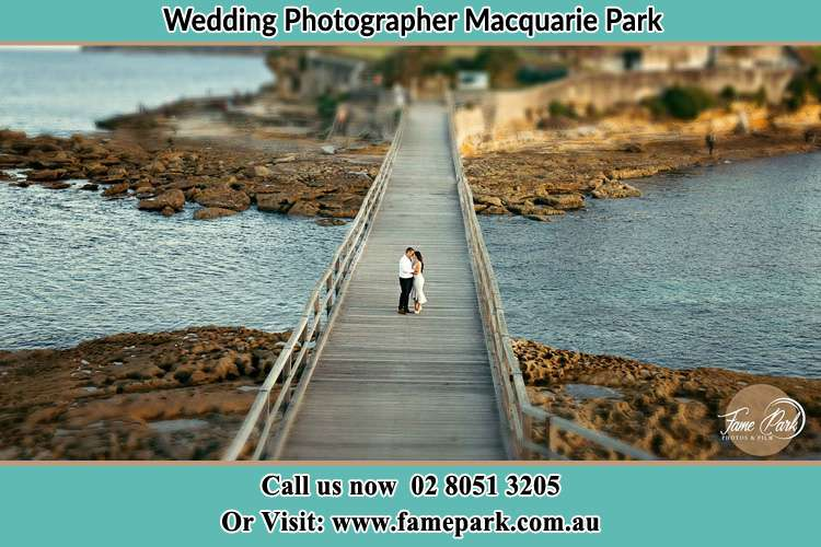 Photo of the Groom and the Bride at the bridge Macquarie Park NSW 2113