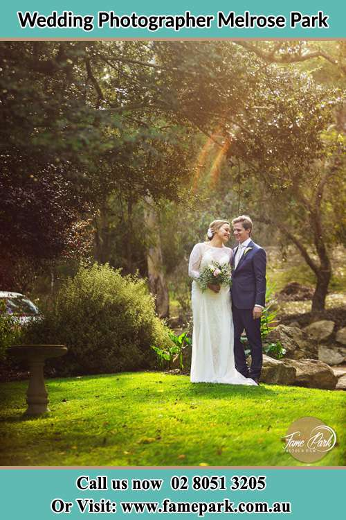 Photo of the Bride and the Groom at the yard Melrose Park NSW 2114