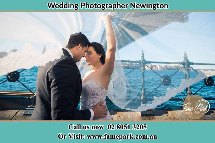 Photo of the Groom and the Bride kissing Newington NSW 2127