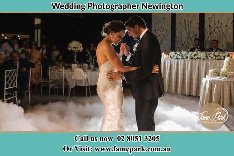 Photo of the Bride and the Groom dancing Newington NSW 2127