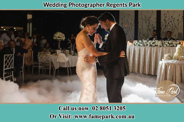 Photo of the Bride and the Groom dancing Regents Park NSW 2143