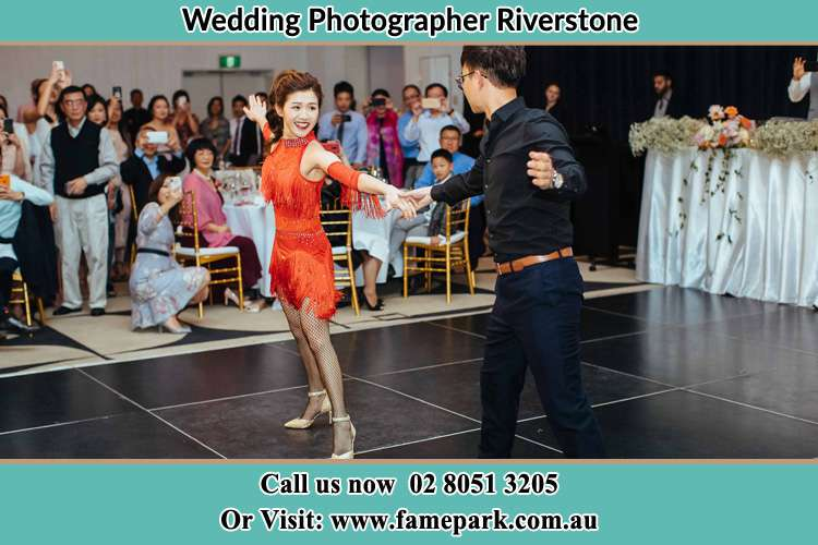 Photo of the Bride and the Groom dancing on the dance floor Riverstone NSW 2765