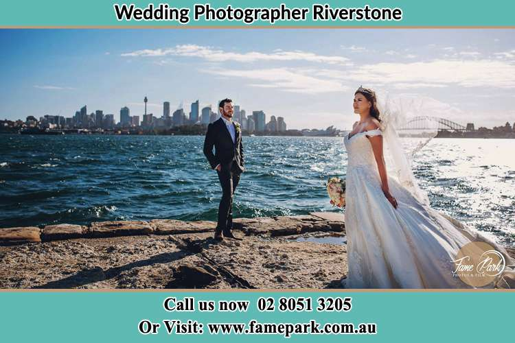 Photo of the Groom and the Bride near the sea front Riverstone NSW 2765