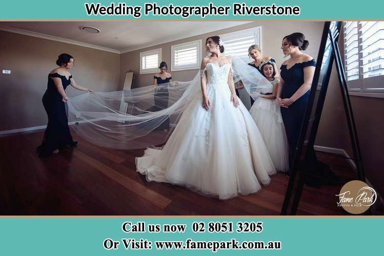 Photo of the Bride and the secondary sponsor preparing Riverstone NSW 2765