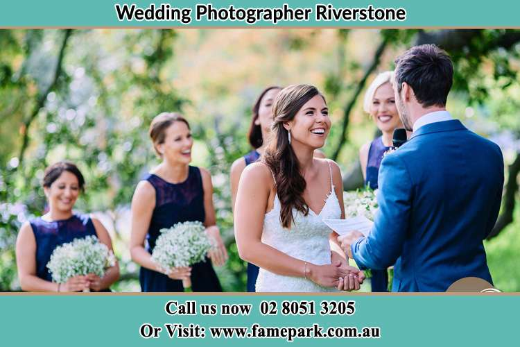 Photo of the Groom testifying love to the Bride Riverstone NSW 2765