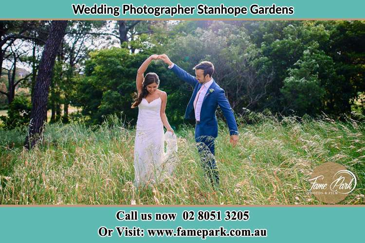 Photo of the Bride and the Groom dancing Stanhope Gardens NSW 2768