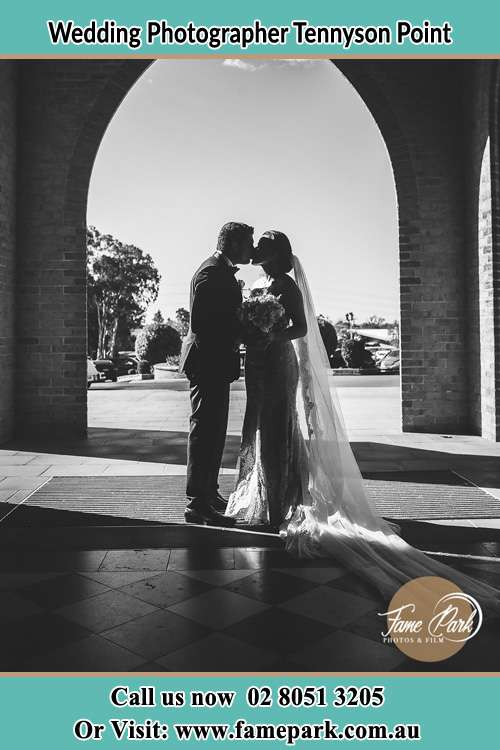Photo of the Groom and the Bride kissing Tennyson Point NSW 2111