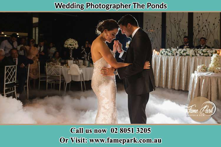 Photo of the Bride and the Groom dancing The Ponds NSW 2769