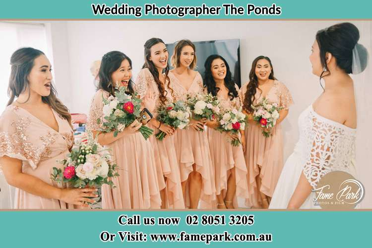 Photo of the Bride and the bridesmaids The Ponds NSW 2769