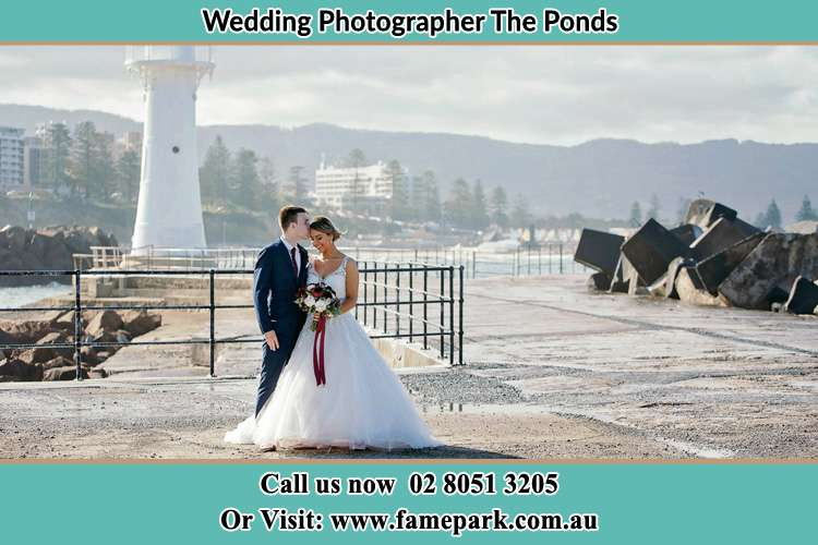 Photo of the Bride and Groom at the Watch Tower The Ponds NSW 2769