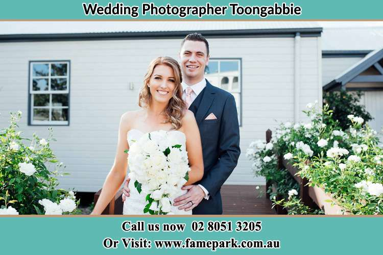 Photo of the Bride and the Groom at the front house Toongabbie NSW 2146