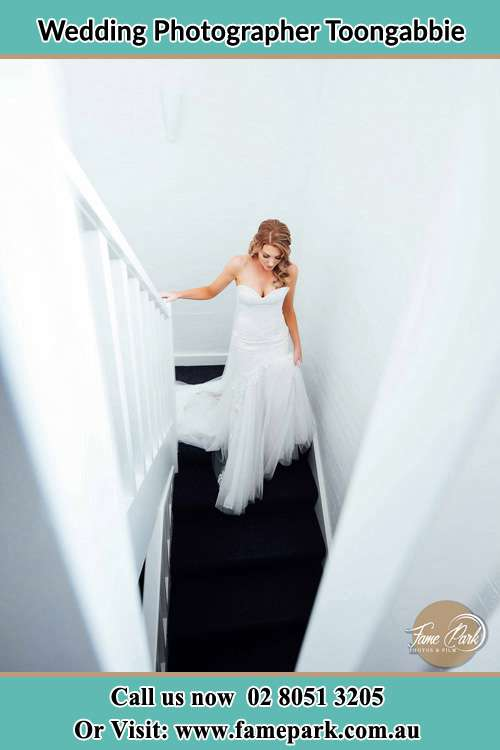Photo of the Bride going down the stair Toongabbie NSW 2146