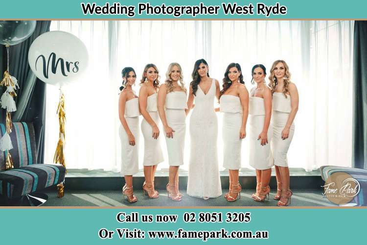 Photo of the Bride and the bridesmaids West Ryde NSW 2114