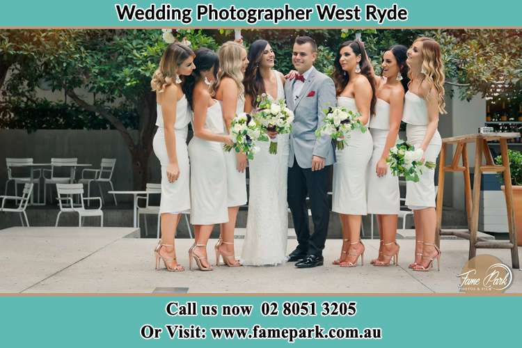 Photo of the Bride and the Groom with the bridesmaids West Ryde NSW 2114