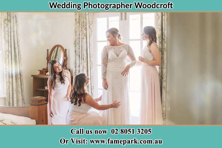 Photo of the Bride and the secondary sponsor preparing Woodcroft NSW 2767